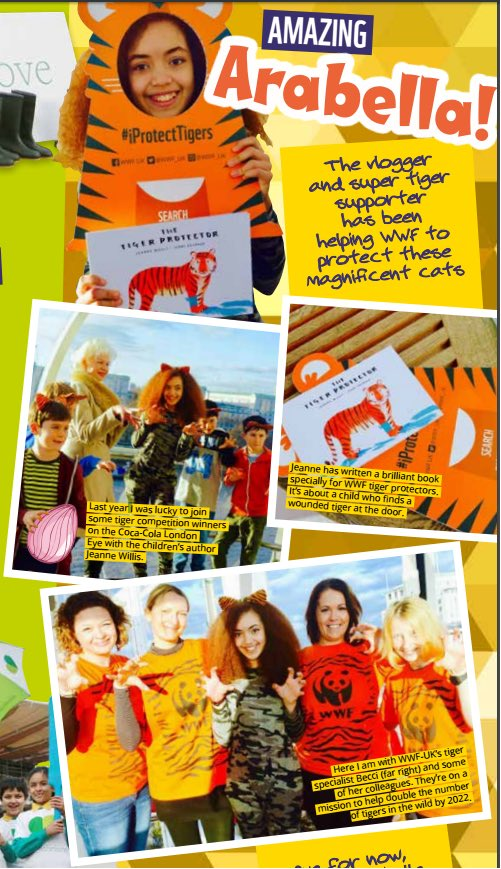 Hey guys I&#39;m a @wwf_uk #charity #ambassador &amp;  I  #animals here I am featured in #wwfuk #magazine @TheLondonEye with #iprotecttigers  <br>http://pic.twitter.com/Jkxh2aUKuh