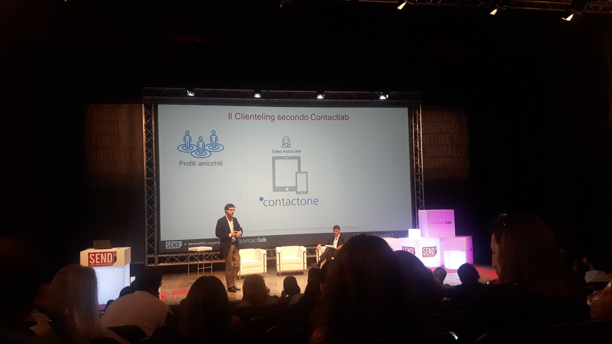 Il clienteling secondo @ContactLab #SENDSummit17 on stage #hellocontactone https://t.co/CCXFkzXHiK