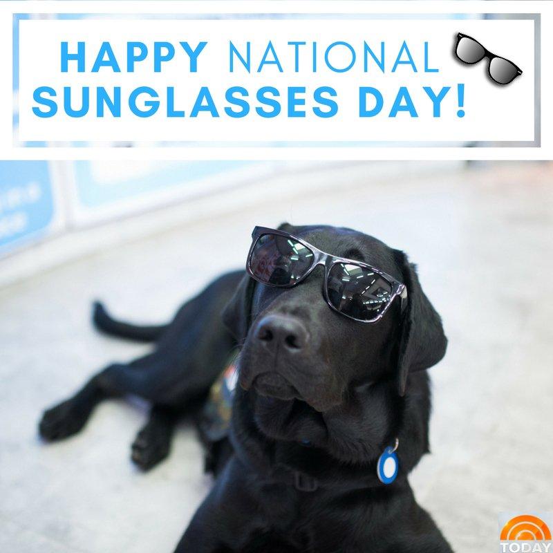 Happy #NationalSunglassesDay! https://t.co/sSF8BtBxSa