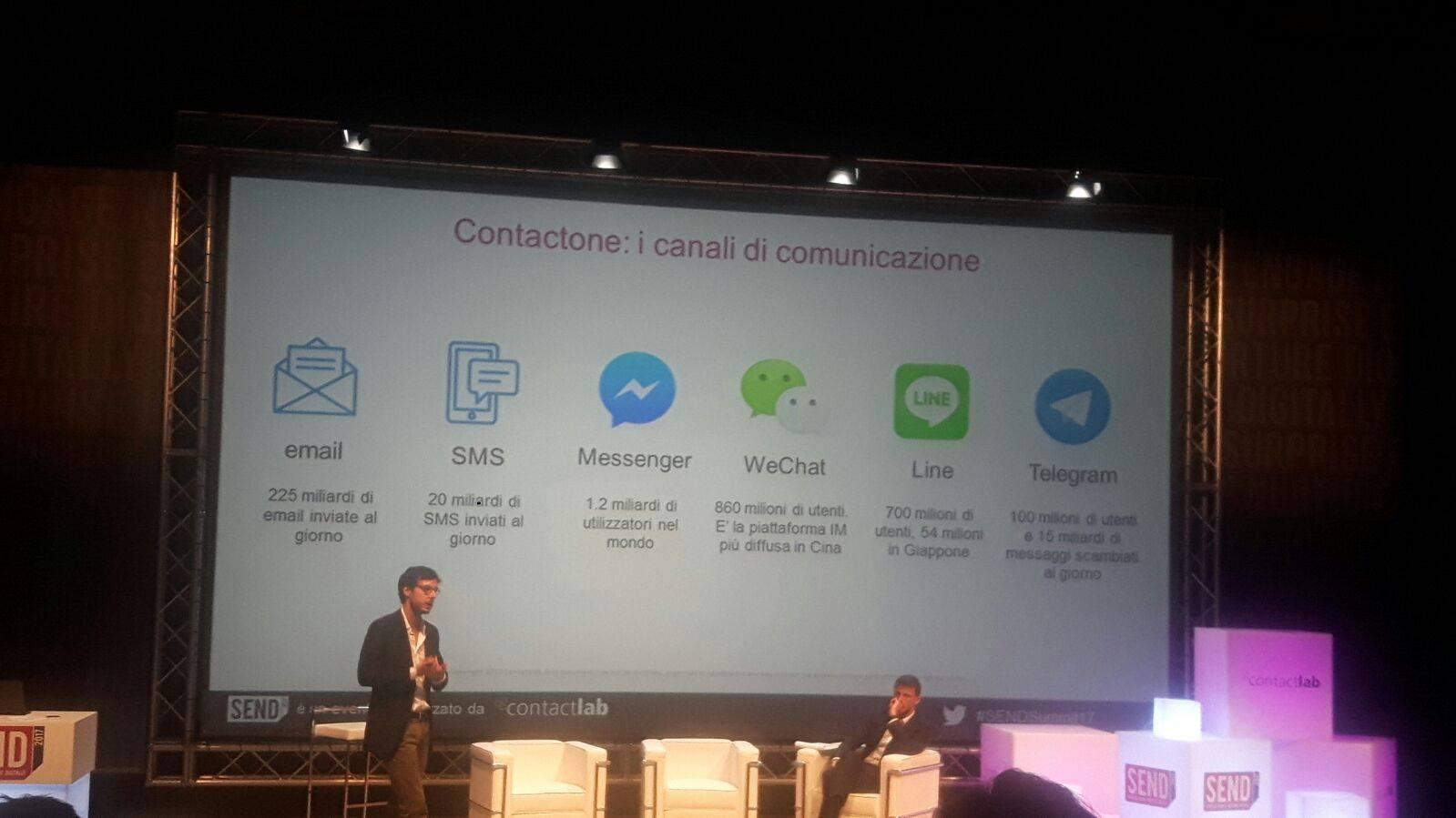 Hello Contactone! Creiamo relazioni di valore grazie all'Instant messaging #SENDSummit17 https://t.co/RNzJXoHmTp