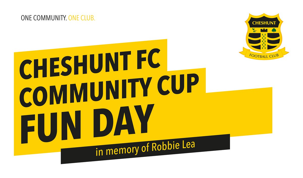 We are delighted to announce the date for our #CommunityCup Challenge - Sat 29th July! #Herts #Football #Cheshunt  https://www. eventbrite.co.uk/e/cheshunt-fc- community-cup-tickets-35650454469 &nbsp; … <br>http://pic.twitter.com/ZWJUUr0ETC