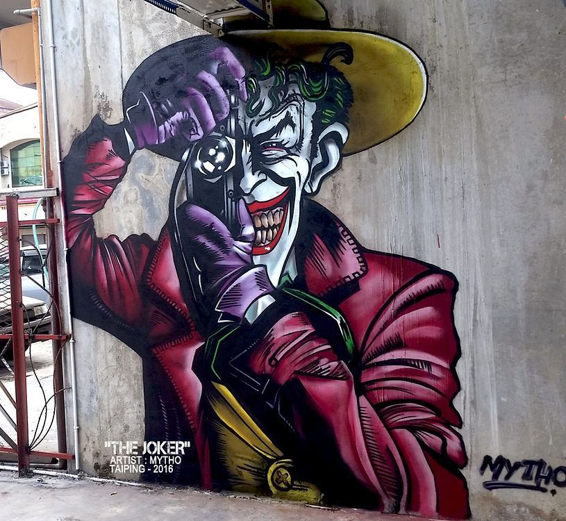 Global Street Art On Twitter The Joker Say Cheese Is A Dope