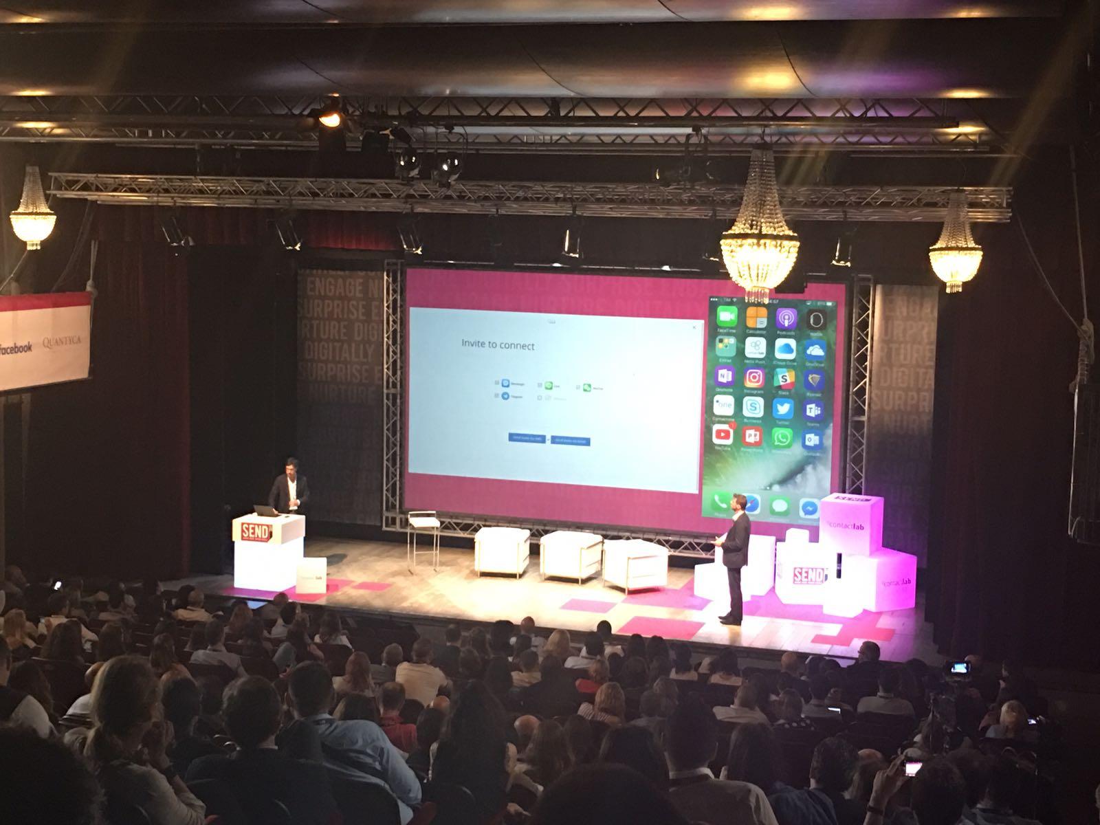 Adesso la demo live di Contactone! In diretta da #SENDSummit17: la nuova soluzione di clienteling by Contactlab https://t.co/IPDEIrC275