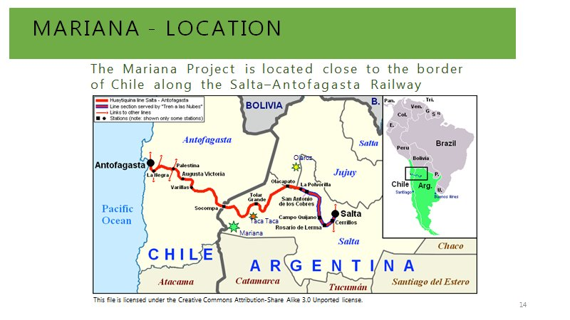 Mariana #Lithium Brine Project is located close to the border of #Chile along the #Salta–#Antofagasta Railway  http:// internationallithium.com / &nbsp;     $LIT<br>http://pic.twitter.com/mY4TeOdRmJ