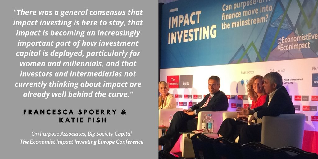 BLOG: &quot;A general consensus that impact investing is here to stay.&quot; Read the blog:  http:// bit.ly/2tgdIp7  &nbsp;   - @OnPurposeUK #EconImpact #ImpInv<br>http://pic.twitter.com/0SHHXsh947