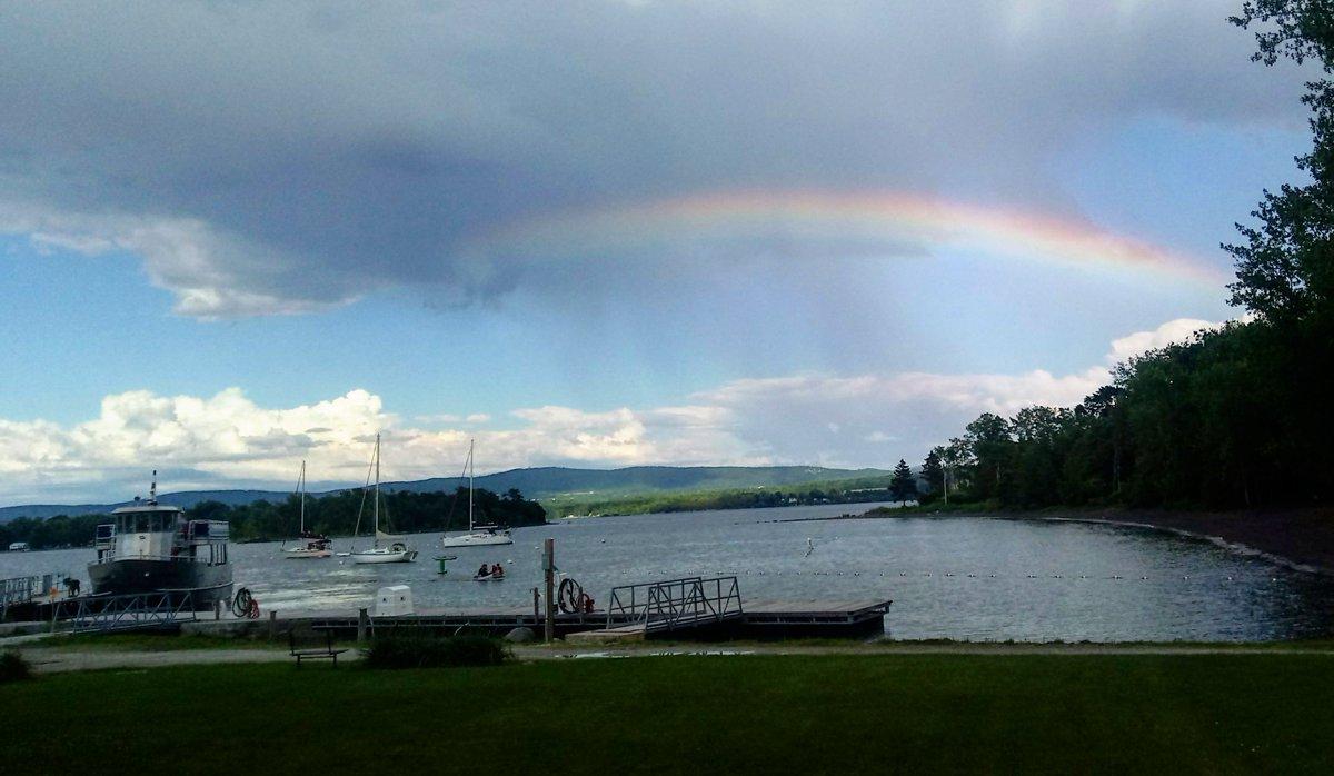 Rainbow after the storm at Burton Island State Park. Thanks to Ranger Katherine! #VT #Vermont #AsSeenInVT<br>http://pic.twitter.com/eRTOrNgr9L