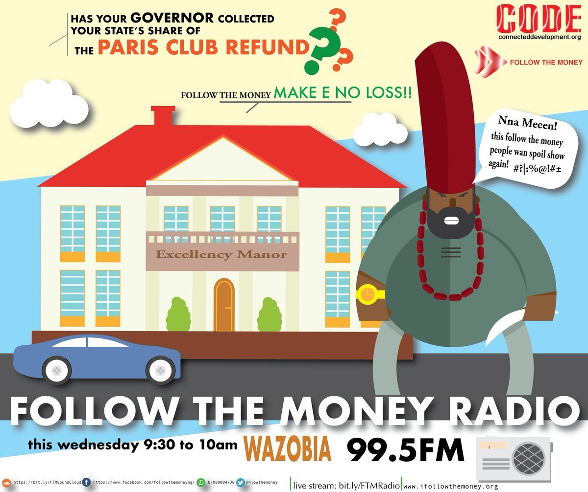 Has he? Have you been able to engage him? Join us on #FollowTheMoney  tmrw 9:30am on @WazobiaFMAbuja w/@bigmoNaija to discuss extensively<br>http://pic.twitter.com/aJq7JZy2HH