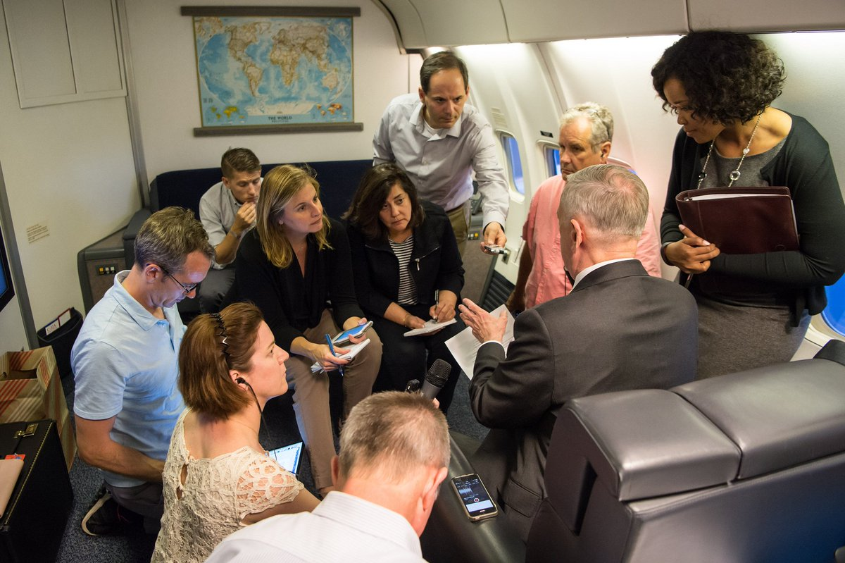 #SecDef briefs press on flight to #Germany where he&#39;ll provide remarks for the 70th Marshall Plan Commemoration:  https:// go.usa.gov/xN7Zv  &nbsp;  <br>http://pic.twitter.com/f6TyvfhYsU