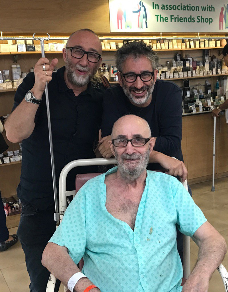 Colin Baddiel's 83rd birthday today. Spending it in hospital sadly: but on the mend. He's the one in the chair, btw. https://t.co/tOro5MqT4u