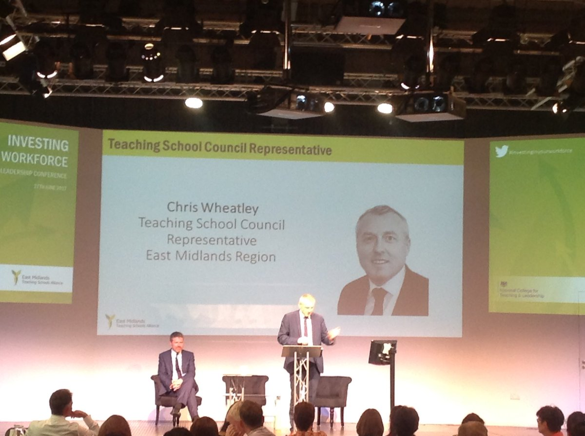 RSC John Edwards and Teaching School Representative @Chris_emtsc #investinginyourworkforce