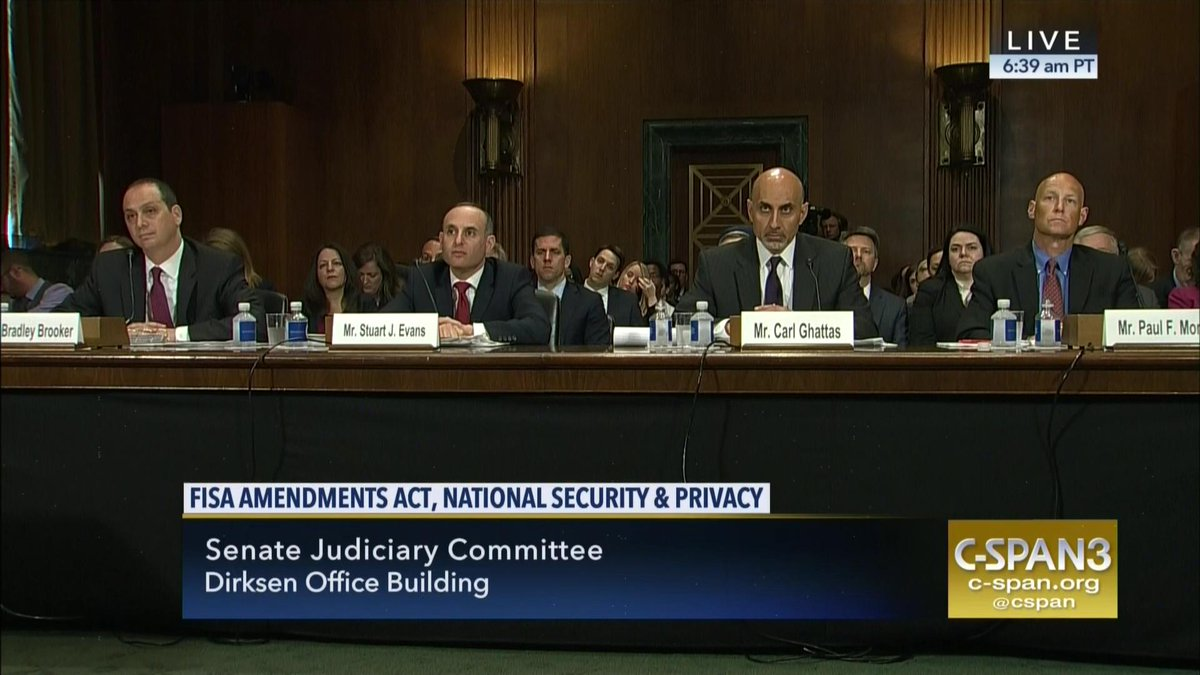 .@SenJudiciary committee hearing on FISA Amendments Acts and nat&#39;l security - LIVE on C-SPAN3 and...  http:// cs.pn/2udpNs0  &nbsp;   by #cspan <br>http://pic.twitter.com/YlbvRIAC6L