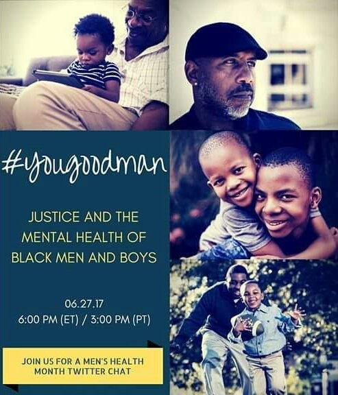 I will be participating in another Twitter Chat discussing Mental health on African American boys & men. #YouGoodMan Tonight at 6PM https://t.co/58xxAa9oXV