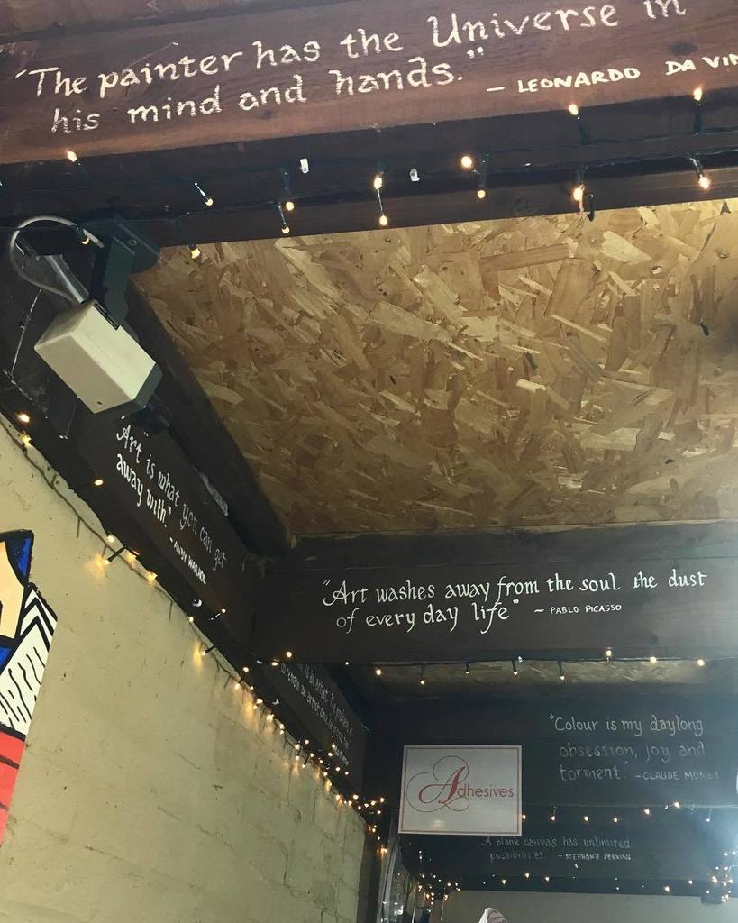 #funfact did you know that our ceiling is full of inspirational quotes?  Every beam has a saying from an artist or…  http:// ift.tt/2sN44t4  &nbsp;  <br>http://pic.twitter.com/ftJSOggHe8