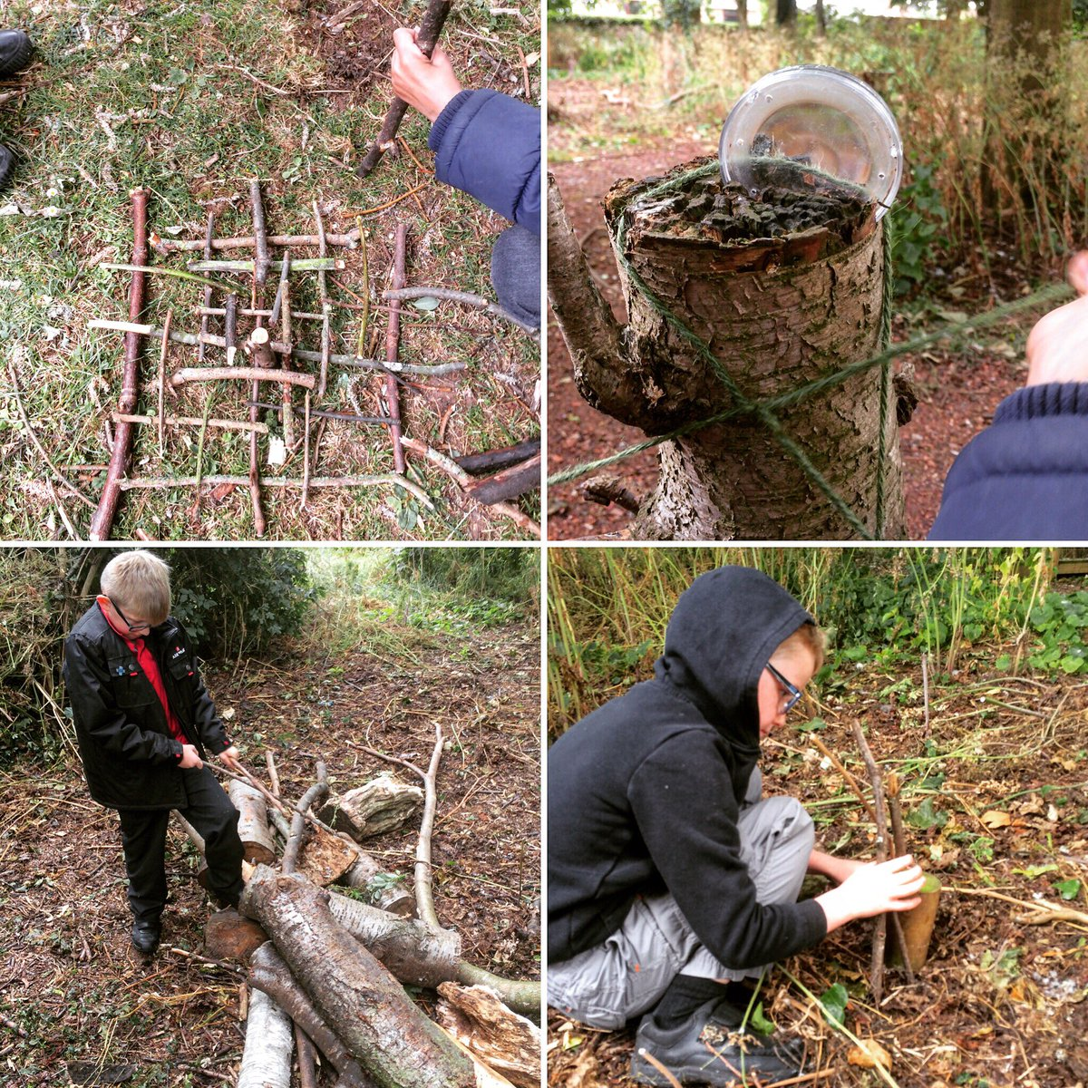 Individual adventures, great teamwork and wonderful achievements today at @HillcrestAnston #forestschool @CultureLeisure #forestschools <br>http://pic.twitter.com/wCY6LEdktG