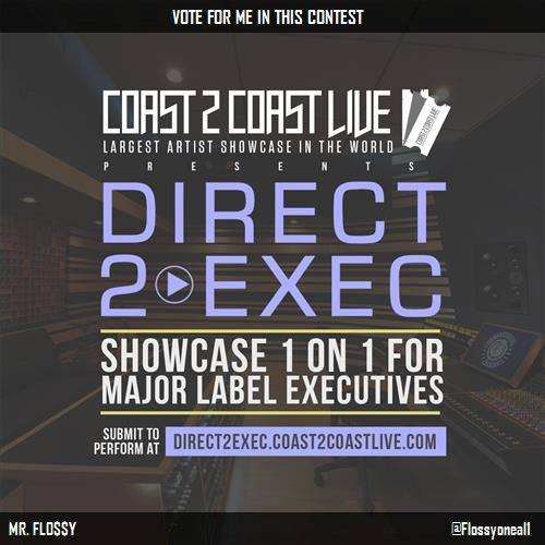 Vote for me to perform at #Direct 2 Exec Chicago 8/17/17 - G.O.O.D. Music!  http:// c2c.fm/Es64Ki  &nbsp;   #Coast2Coast<br>http://pic.twitter.com/ljNGhTviRT