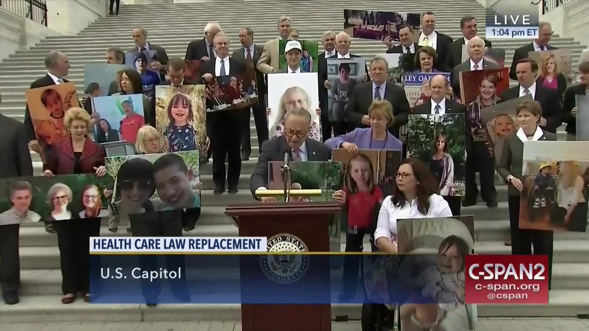 LIVE on C-SPAN2: Senate Democratic caucus on health care. Sen. Schumer:  &quot;We&#39;re here to show what...  https://www. c-span.org/video/?430578- 1/senate-democrats-protest-gop-health-care-bill&amp;live &nbsp; …  by #cspan <br>http://pic.twitter.com/lqueomj04O