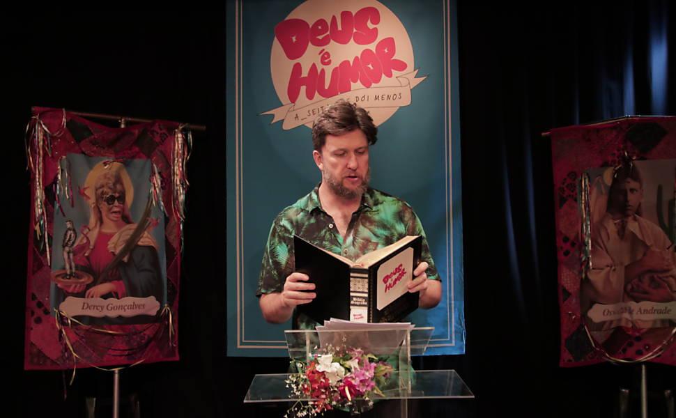 Misto de culto e espetáculo, 'Deus É Humor' une fé, riso e atualiza a Bíblia https://t.co/aDlKwMK4XJ
