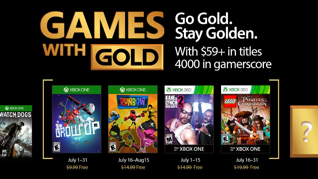 Xbox Live Games with Gold July 2017