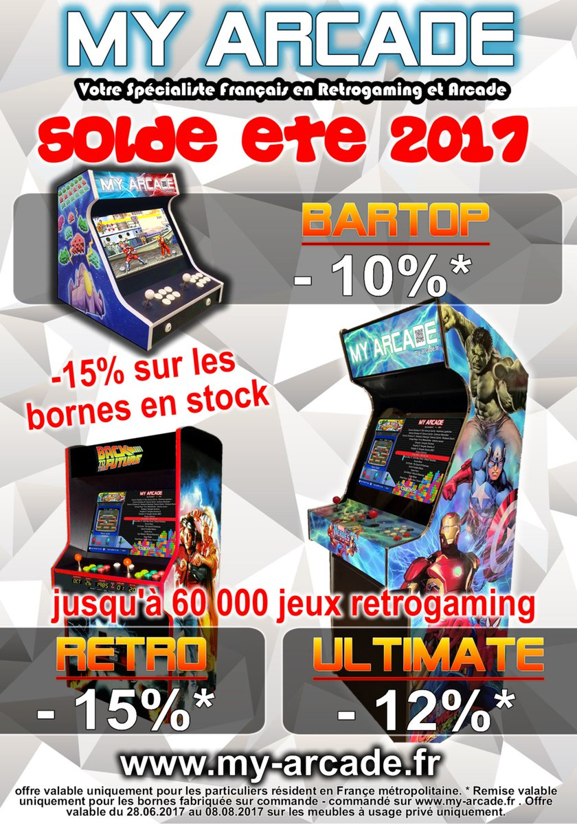 Are you ready ? #soldes2017 #retrogaming #arcade #solde<br>http://pic.twitter.com/5THwchyVM7
