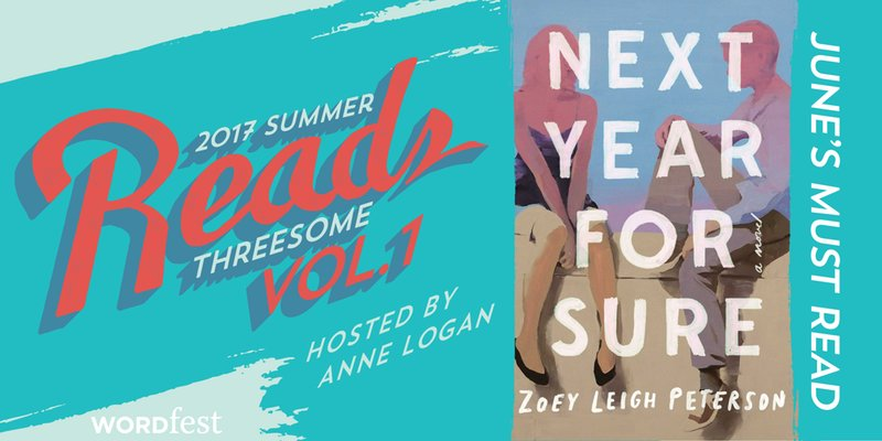So who else is going to @WordfestTweets book club tomorrow night? Looking forward to discussing @ZoeyLPeterson's NEXT YEAR, FOR SURE :) https://t.co/2TUfGdsxlN