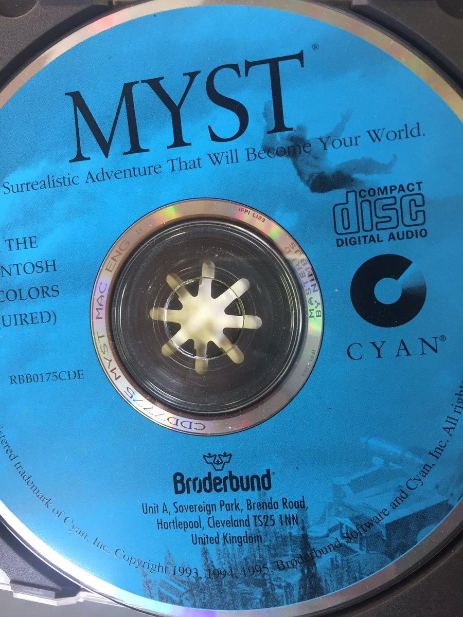 Those were the days  #myst #cyan #Brøderbund #games. I even got the three Myst books (signed)<br>http://pic.twitter.com/jLoZVaUeir
