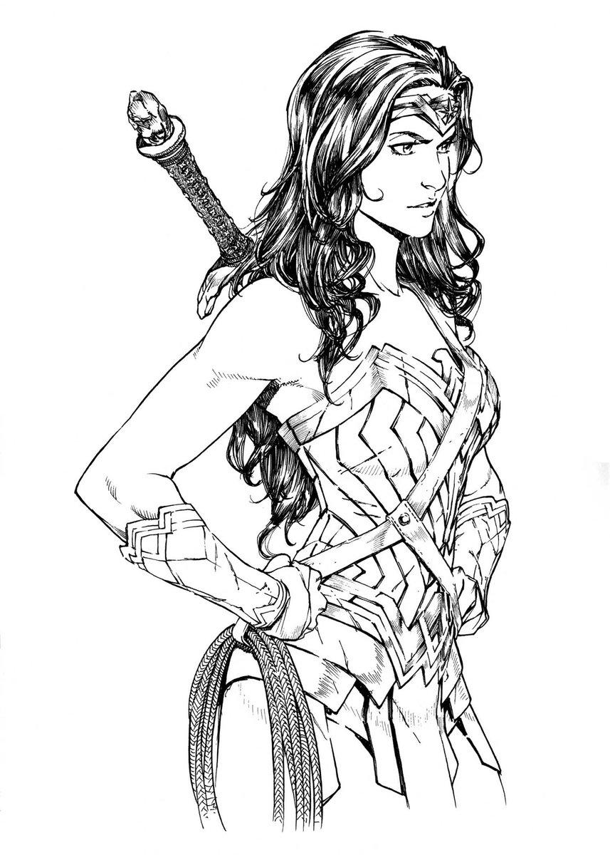 Drew this for a show. #wonderwoman #dc #comics #ink #illustration http...