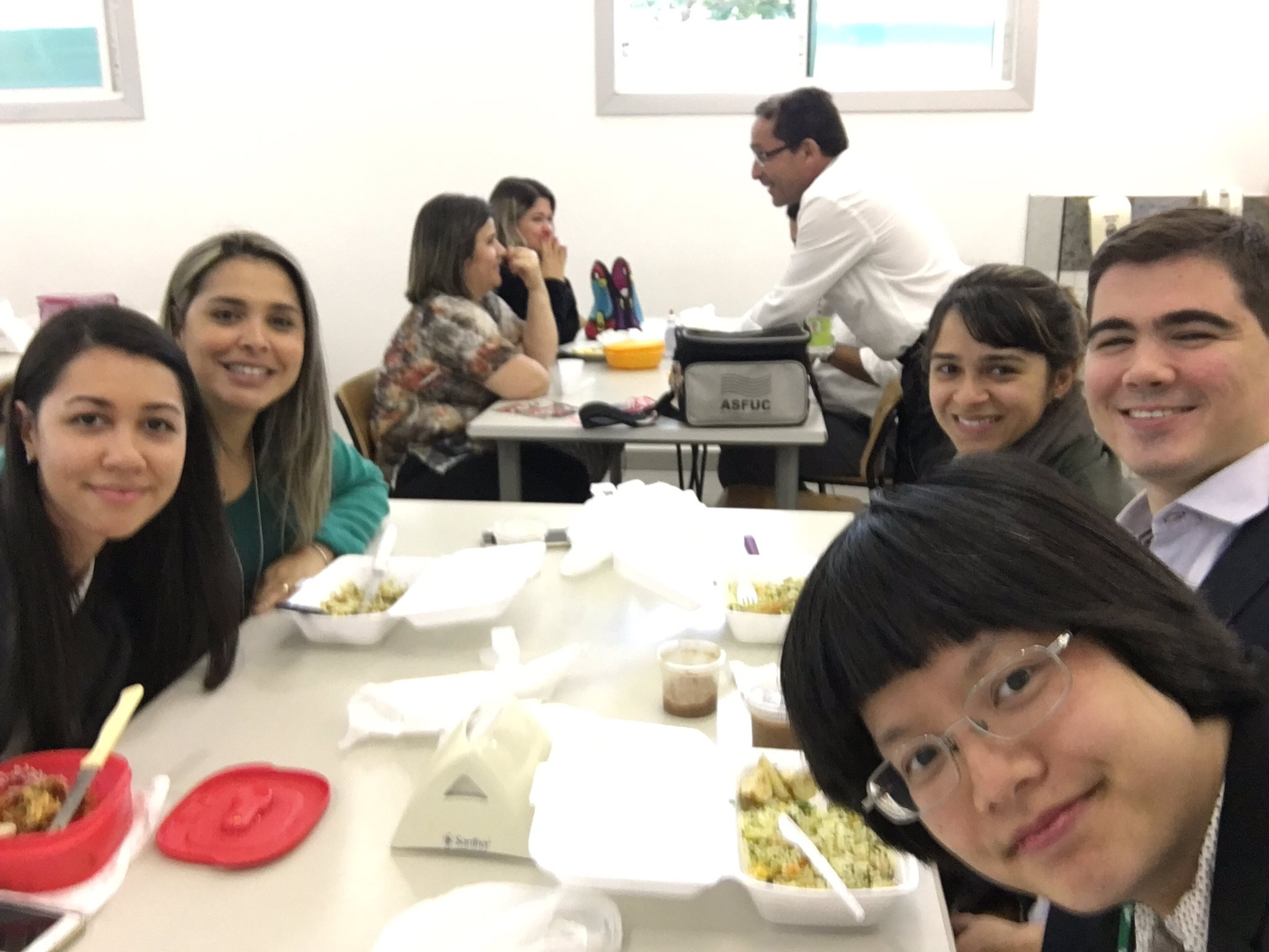 Lunch time with co-workers! Brazilian food is delicious:)#SummerGPS #TravelTuesday https://t.co/1pJz67El6v