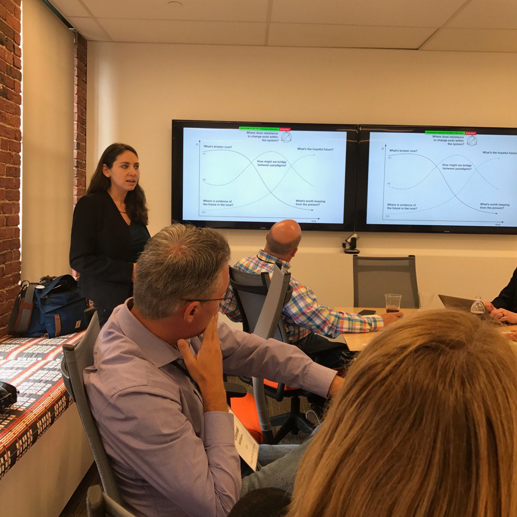 Megan @ hubspot sharing innovation planning and end of world thinking - wow great structure. #lmaim https://t.co/dTLgF2FcyA