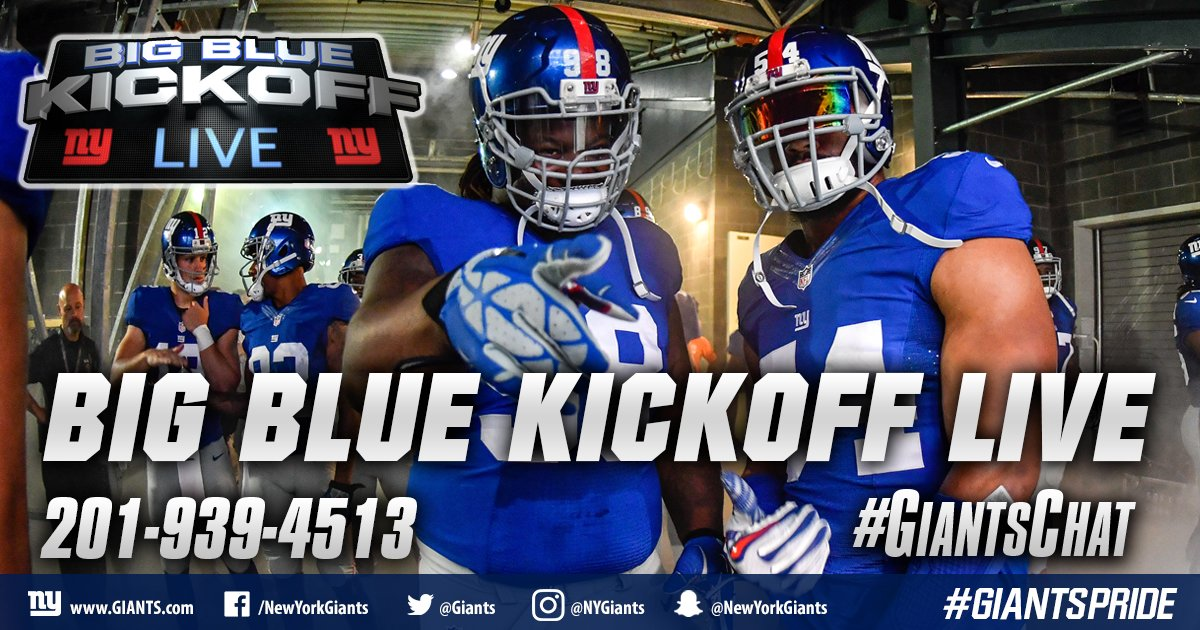 Today on BBKL at noon on @giants.com, @giantswfan and I preview the Chargers with @erniemartinezSD and we talk NFL Top 100. #GiantsChat <br>http://pic.twitter.com/rNWj6dm5nZ