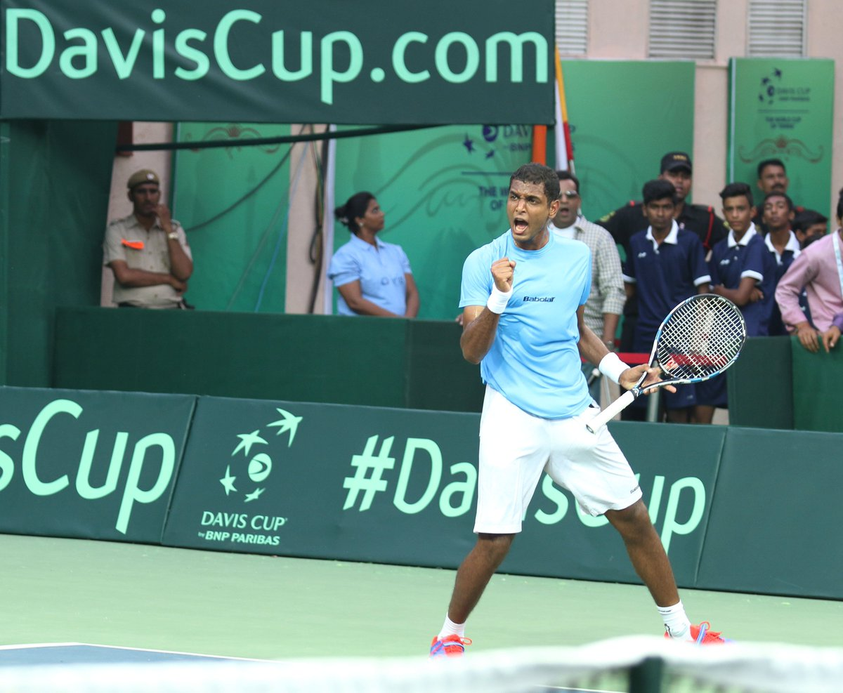 What a win for @ramkumar1994 over #Thiem in Antalya! <br>http://pic.twitter.com/1whSDEC3bi