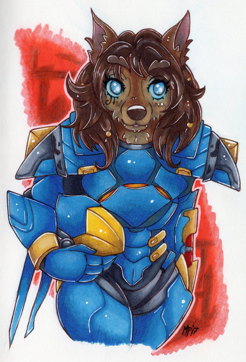 &quot;Justice rains from above!&quot; #Worgen #Pharah for @Nevangoth ~ Traditional #art commission finished! Hope you like it! #Warcraft #Overwatch<br>http://pic.twitter.com/1hkl6bsOMm