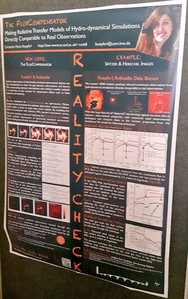 C. Koepferl: making radiative transfer models of hydrodynamical simulations directly comparable to real observations #ewass2017 https://t.co/otu1O9Vf57