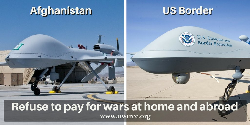 Angry about sky-high military spending, Iraq and Syria #wars, #drone strikes? Time to resist war taxes.  http:// bit.ly/nwtrccorg  &nbsp;  <br>http://pic.twitter.com/TW4MXxMuZr