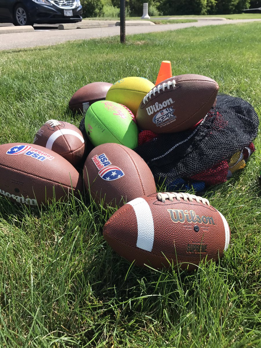 We are thru Day 2 of Sports Camp #Football #KickBall<br>http://pic.twitter.com/xcU28YkOcH