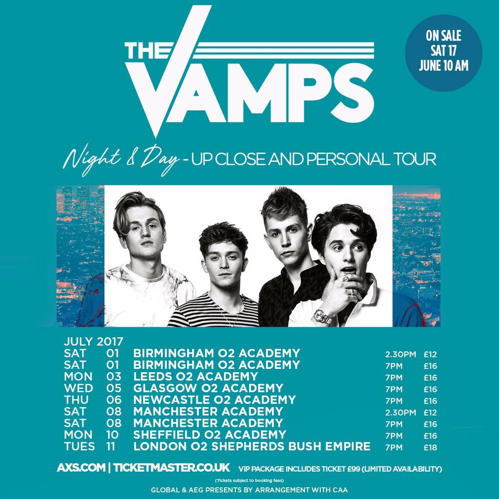The Vamps On Twitter Vip Doors For The Up Close And Personal