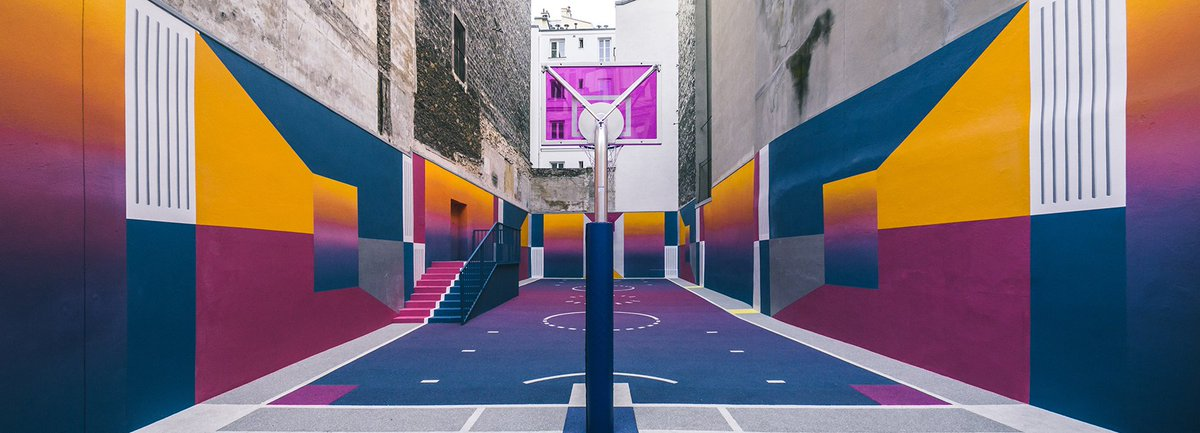#Basketball Court in #Paris by #Pigalle, Ill Studio &amp; #Nike @ Rue Duperrel   http://www. bbc.co.uk/newsbeat/artic le/40417916/look-at-this-amazing-basketball-court---and-other-awesome-sports-venues &nbsp; …   #BasketballCourt #IllStudio #RueDuperre<br>http://pic.twitter.com/oPNF32yKO3