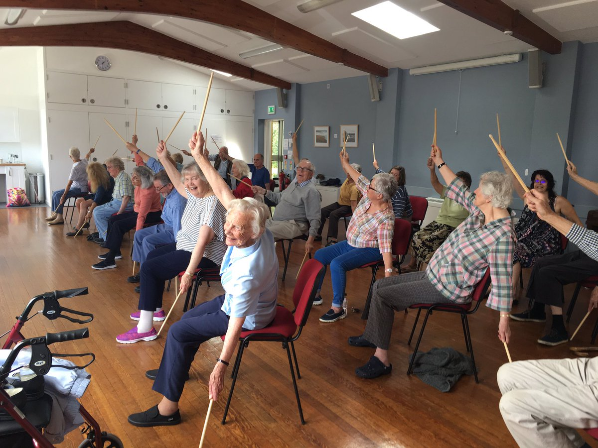 My amazing #Balance clients #mobility #strength #core #fun #drumstick #challenge #no excuses #everyonecanmove average age #78 @CoreCornwall<br>http://pic.twitter.com/h2df74CbqI