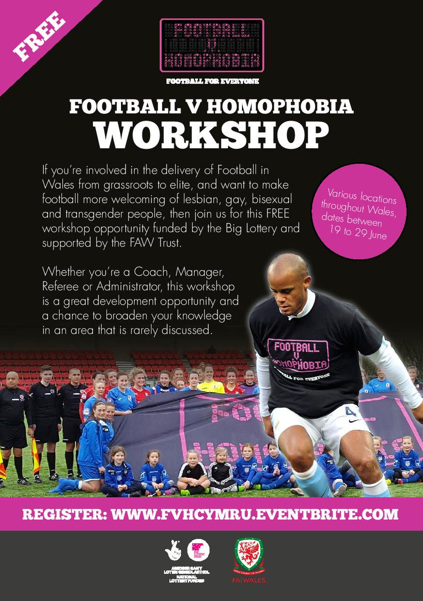 #Gwent #Football clubs - don&#39;t miss this FREE workshop tomorrow night! Book here:  https://www. eventbrite.co.uk/e/football-v-h omophobia-workshop-gwent-tickets-34789424104 &nbsp; … <br>http://pic.twitter.com/hFdy3imbK0