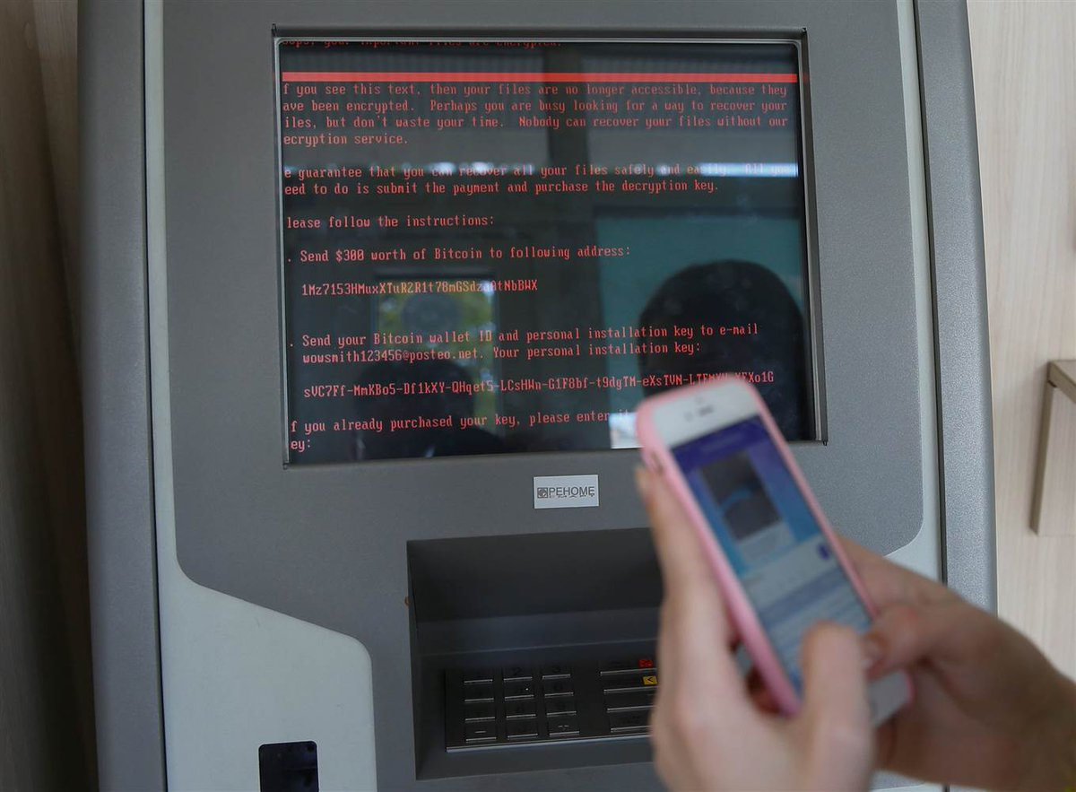 Petya on an ATM. Photo by REUTERS. https://t.co/fDQ0nGyQc6