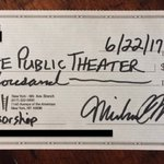 So here's my donation & sponsorship to The Public's Shakespeare in the Park in support of their right to free speech