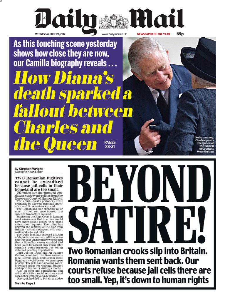 Bbc News Uk On Twitter Wednesday S Mail Beyond Satire Via