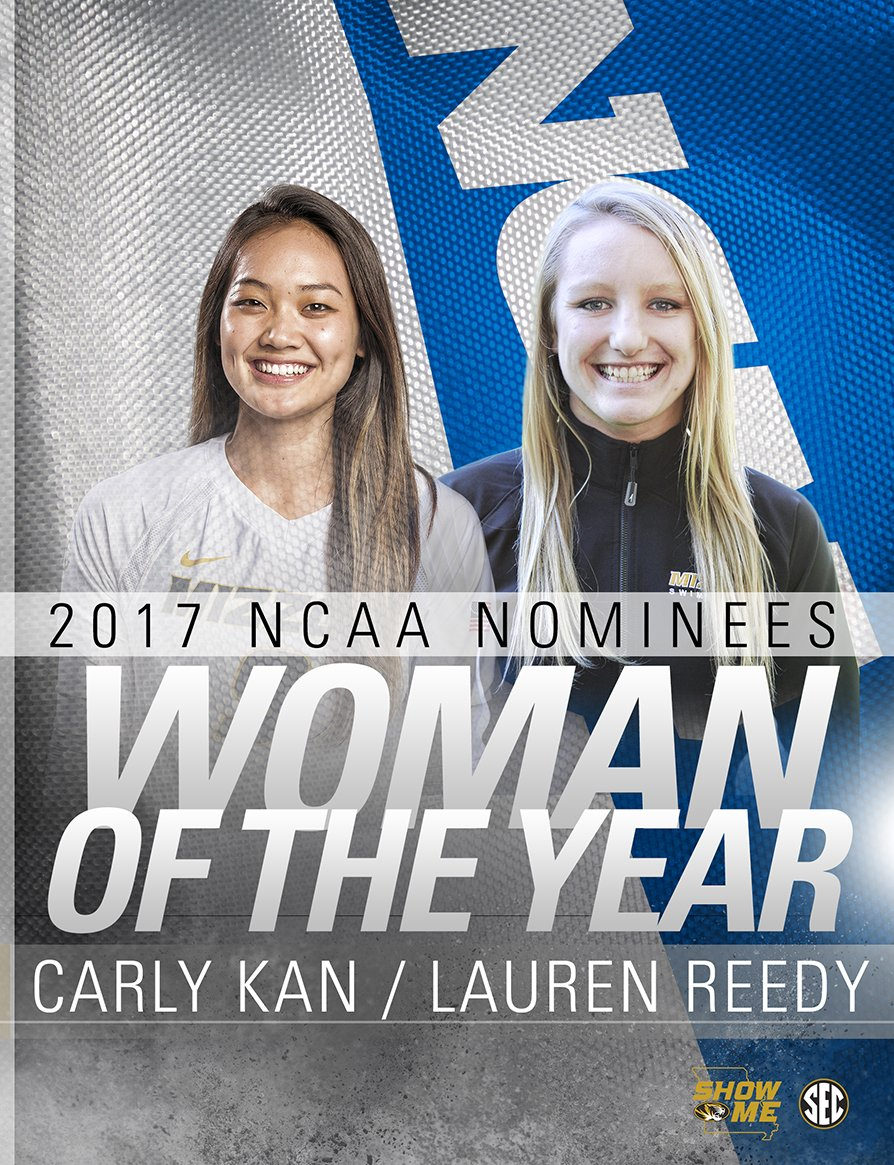 NEWS I #Mizzou alums Carly Kan &amp; Lauren Reedy honored as 2017 NCAA Woman of the Year nominees!  [ http:// bit.ly/2sjSDp7  &nbsp;  ]  #MizzouMade<br>http://pic.twitter.com/1eBly0dZ6a