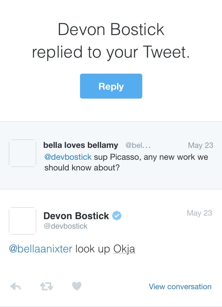 in honor of #okja tomorrow never forget when @devbostick gave me a heads up a little over a year ago<br>http://pic.twitter.com/skwZuMqPuy
