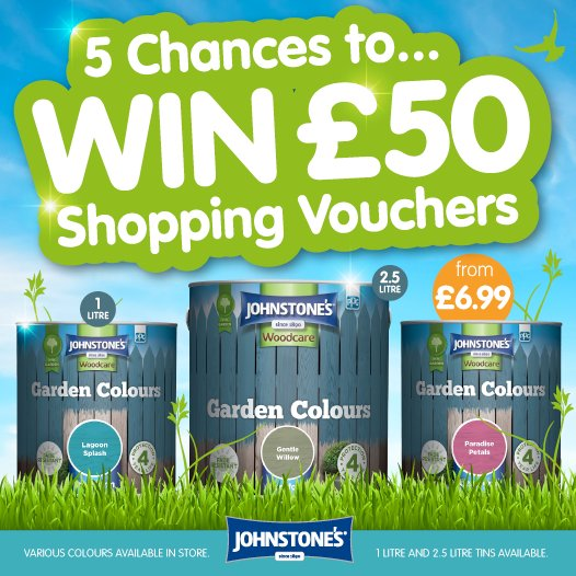 #COMPETITION!  FLW &amp; RT for a chance to #WIN one of FIVE £50 B&amp;M Vouchers courtesy of @JohnstonesUK ! Competition ends 23:59 29/06/2017<br>http://pic.twitter.com/8Im0gWfYIG