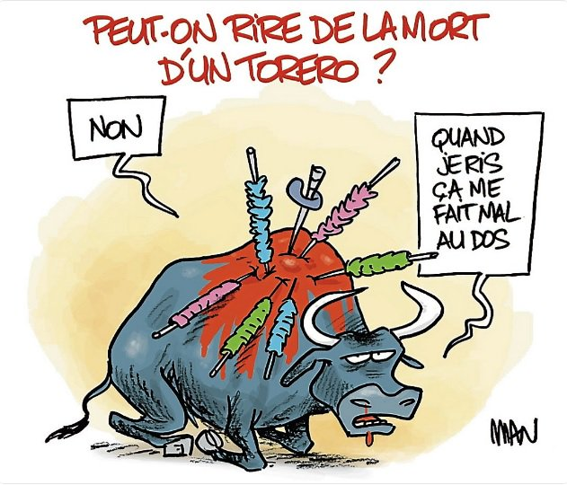 #FredericFromet #Corrida #StopCorrida #CSA #FranceInter #PETA #L214 #OneVoice  ( Dessin #MidiLibre ) <br>http://pic.twitter.com/bmDoUrbUtN