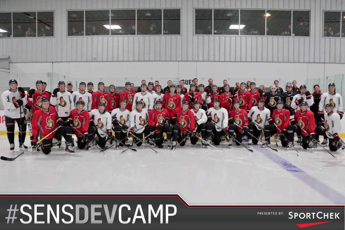 The first on-ice session at the @SportChek #SensDevCamp kicks off with...