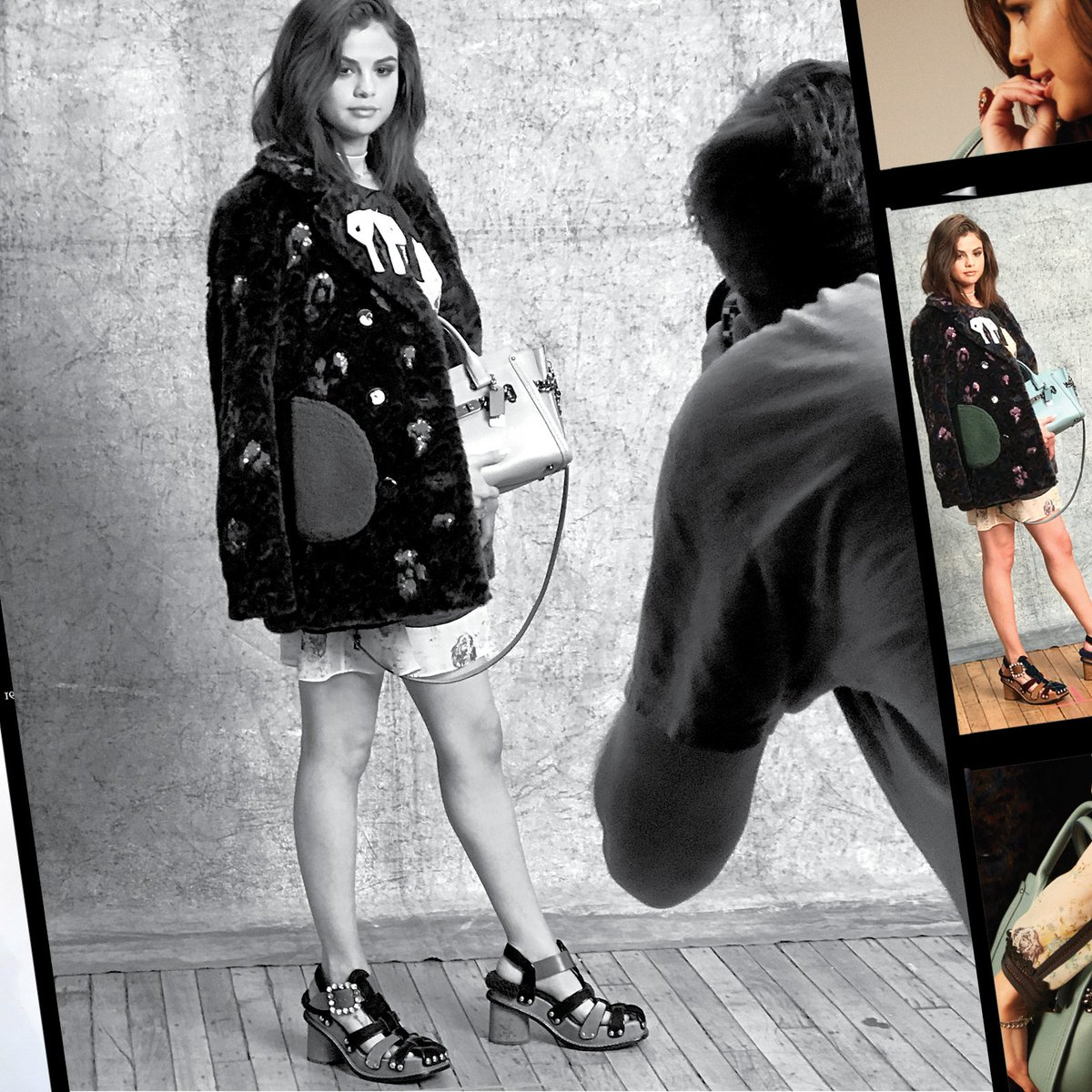 Behind-the-scenes Swagger with #SelenaGomez.  #CoachxSelena #CoachNY #WhatsYourSwagger