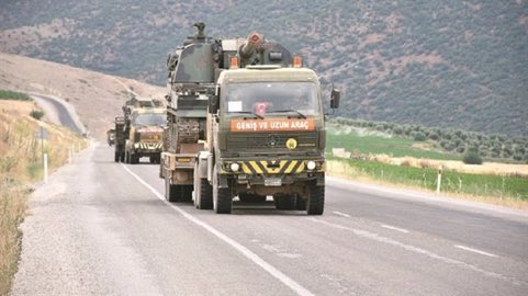 #Turkey is currently mobilizing troops in northern areas of #Aleppo via Bab al Salama crossing as a possible crackdown on the #SDF. #Syria<br>http://pic.twitter.com/5t1gU3myYU