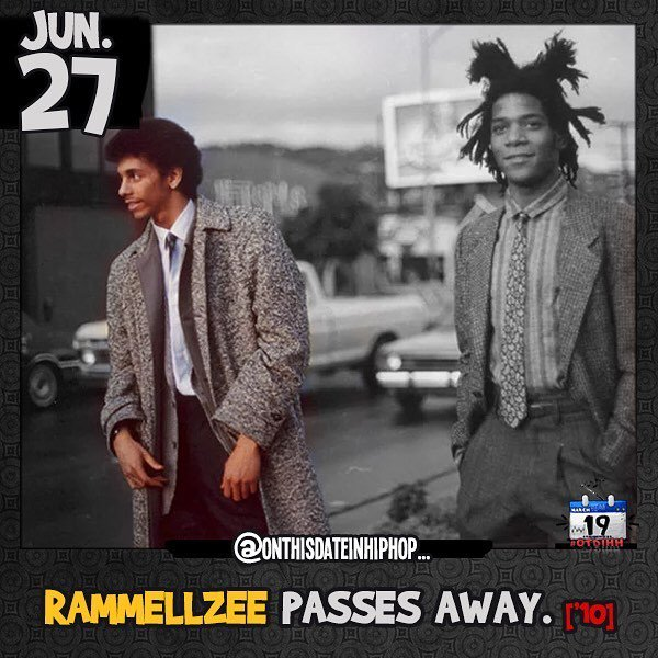 #OnThisDateInHipHop, we lost #graffiti and #hiphop artist #Rammellzee (seen here with #basquiat)... The cause of d…  http:// ift.tt/2tjRdjD  &nbsp;  <br>http://pic.twitter.com/zArGnsIA51