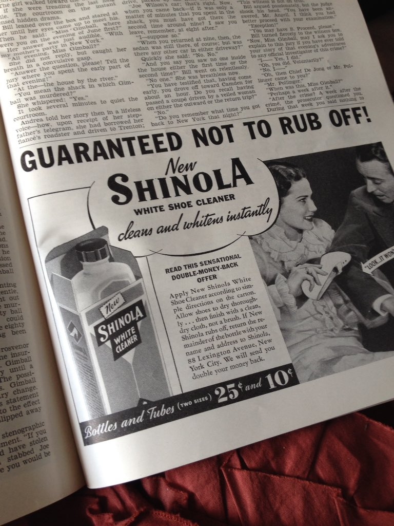 Before @Shinola was made into a fancy watch and accessories brand, it was a shoe polish company with ads like these